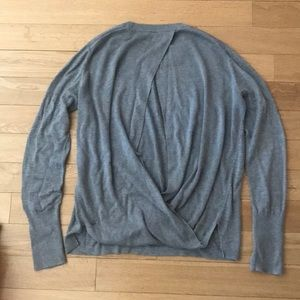 Lululemon Bring It Backbend Sweater Heathered Grey